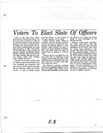 Voters to Elect Slate of Officers
