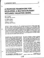 A Proposed Framework For Developing Multidisciplinary Wetlands Valuation Model
