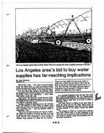 Los Angeles Area's Bid to Buy Water Supplies Has Far-Reaching Implications