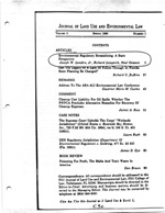 Journal of Land Use and Environmental Law: Contents
