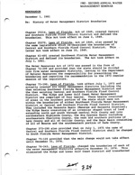 Selections from the Past: Memorandum: History of Water Management District Boundaries