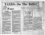 Taxes: On the Ballot
