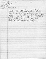 Notes Handwritten, Sept 12, 1994/Attached Letters and Memo