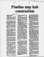 Pinellas May Halt Construction
