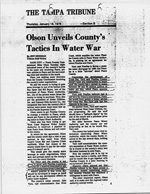 Olson Unveils County's Tactics in Water War