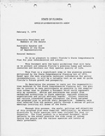 Letter: Feb 9, 1978 Attached FL State Comprehensive Plan