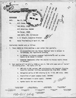 Memo: Notes from Meeting of April 27, 1982