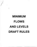Minimum Flows and Levels Draft Rules