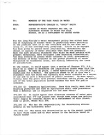 """Rep. Charles R. """"Chuck"""" Smith's """"Issues on Water Transfer and Use"""" Referred to in Memo to Members of The Task Force on Water Issues Dated April 28, 1983 From William Sadowski"""