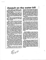 More Newspaper Articles Relating to the Memo to Members of the Task Force on Water Issues by W'm Sadowski Dated April 28, 1983