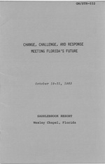 Change, Challenge and Response, Meeting Florida's Future - Pamphlet of Events