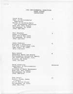 1991 Environmental Permitting Short Course Instructors