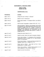 Environmental Resource Permit -  Errata Sheet of August 30, 1994