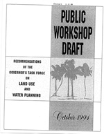 Public Workshop Draft - Recommendations of the Governor's Task Force on Land Use and Water Planning, October of 1994