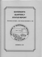 Governor's Quarterly Status Report for Period October 1, 1990 Through December 31, 1990