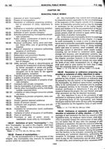 Municipal Public Works - Chapter 180