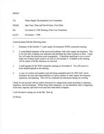 Memo Re; November 8, 1996 Meeting of the Core Committee