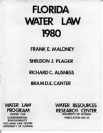 Florida Water Law 1980