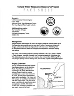 Tampa Water Resource Recovery Project;  Fact Sheet