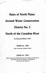 Rules of North Plains Ground Water Conservation District No. 2 North of the Canadian River