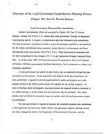 Overview of the Local Government Comprehensive Planning Process, Chapter 163, Part II, Florida Statutes