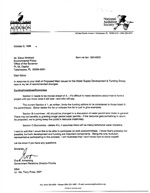 Letter to Mr. Estus:  Recommended Changes to Proposed Main Issues for the Water Supply Development & Funding Group