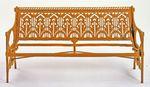 Garden bench: stylized foliage motif