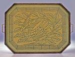 Tray: exotic bird motif