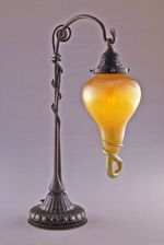 Lamp, abstract floral motif