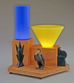 Table lamp: pelican motif