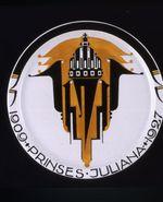 Commemorative plate of Prinses Juliana 1909-1927
