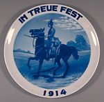 Plate: In Treue Fest 1914 [In Enduring Loyalty]