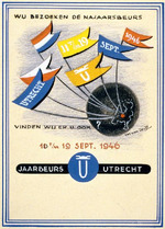 Design for an entrance card, Wij Bezoeken de Najaarsbeurs 10 t/m 19 Sept. 1946 [We are visiting the Autumn Fair 10 to 19 Sept. 1946]