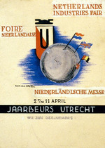 Design for an exhibitor card-Netherlands Industries Fair, 2 t/m 11 April 1951