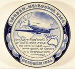 Commemorative plate: Londen Melbourne Race, October 1934