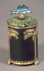 Cigarette container, presented to A. A. Schechter by the Committee of One Hundred (est. 1926), Miami Beach, Florida