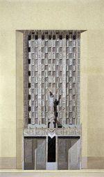 Detail of Park Avenue Entrance, Waldorf-Astoria Hotel, New York