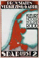Kleurt Noord Holland rood [Color North Holland Red]