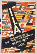 ILA Internationale Luftfahrt-Ausstellung Berlin 1928 7. Bis  28. Oktober [ILA International Aviation Exhibition Berlin 1928 7 until 28 October]