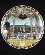 Commemorative plate for the 50th year anniversary of the Société Céramique Maastricht, Holland