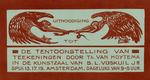 Uitnoodiging tot de tentoonstelling van teekeningen door Th. van Hoytema in de kunstzaal van B.L. Voskuil Jr