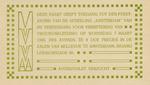 """Deze kaart geeft toegang tot den feest avond van de afdeeling """"Amsterdam"""" van de Vereeniging voor Verbetering van Vrouwenkleeding"""