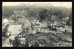 Panorama de Bruxelles-Kermesse après les ravages du feu