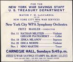 For the New York war savings staff, U.S. Treasury Department