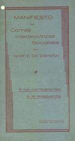 Manifiesto del Comité Interprovincial Socialista del Norte de España
