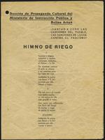 Cantad a coro las canciones del pueblo, las canciones de lucha contra el fascismo!