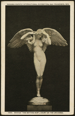 "1930, Statue, ""The Setting Sun"", Court of the Universe"