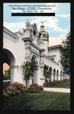 South entrance to Science and Education Building, San Diego Panama-California Exposition