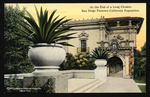 At the end of a long cloister, San Diego Panama-California Exposition