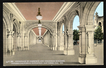Colonnade in Commerce and Industries Building, Panama-California Exposition, San Diego, Cal., 1915